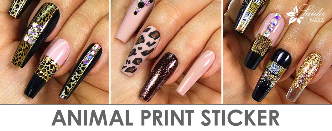 Wild nail art with Animal Print Stickers