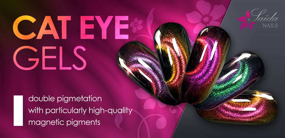 double pigmented Cat Eye magnetic gels for unique nail art