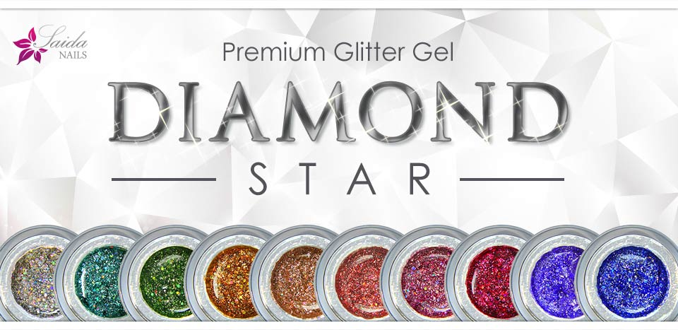 DIAMOND STAR Glitter Gels from Saida Nails