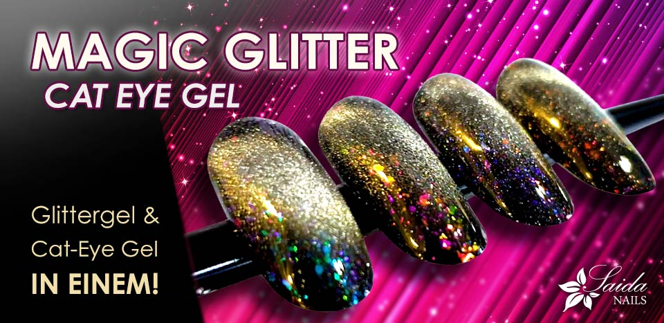 Glitter gel + Cat Eye Gel in einem - Magic Glitter Cat Eye Gele