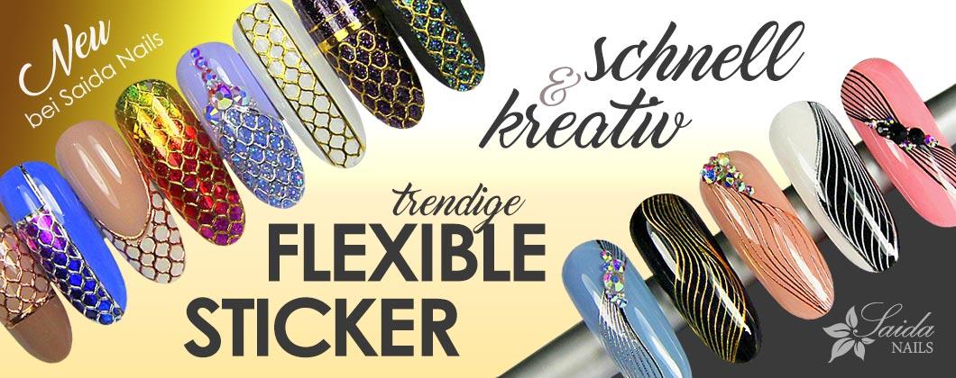 trendige flexible Sticker für schnelle und kreative Nailart
