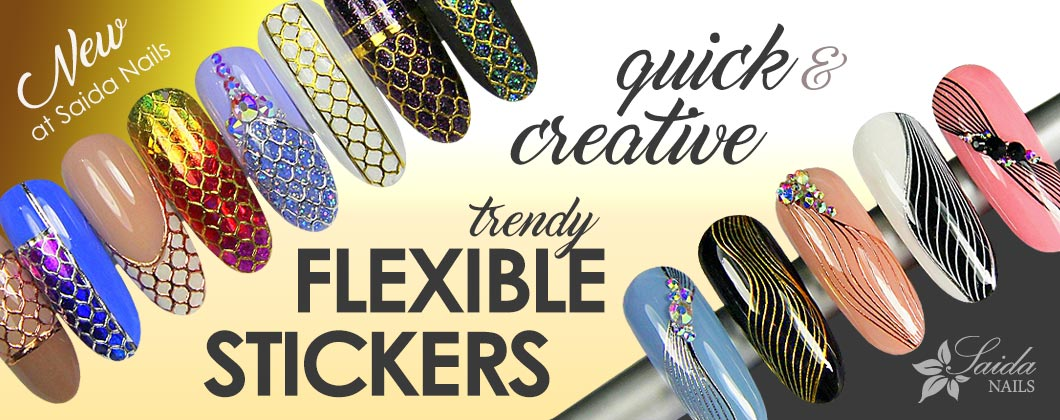 trendy flexible stickers for quick and creative nail art