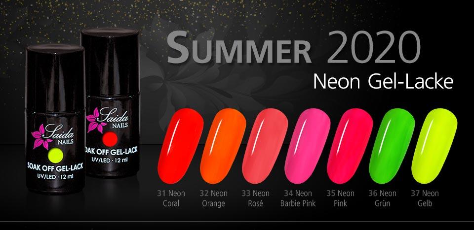 Neon Gel Lacke Summer 2020