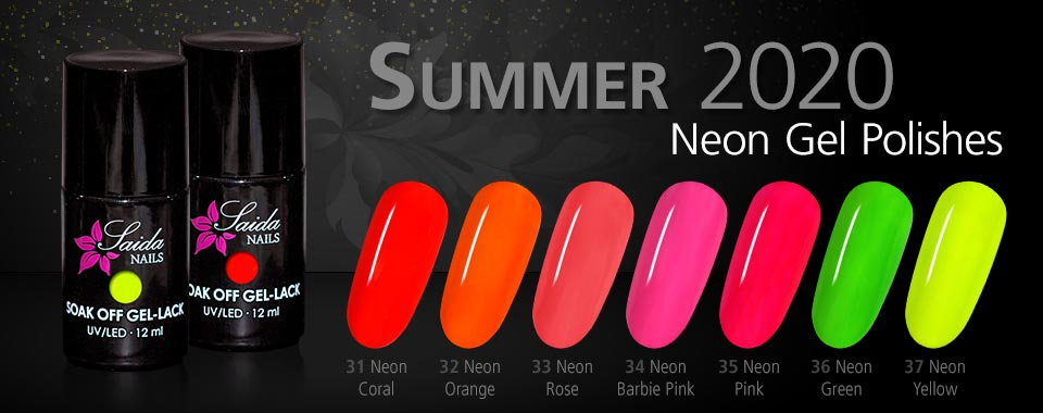Neon Gel Polishes Summer 2020