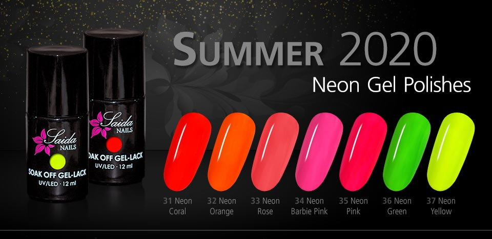 Neon Gel Polishes Summer 2020