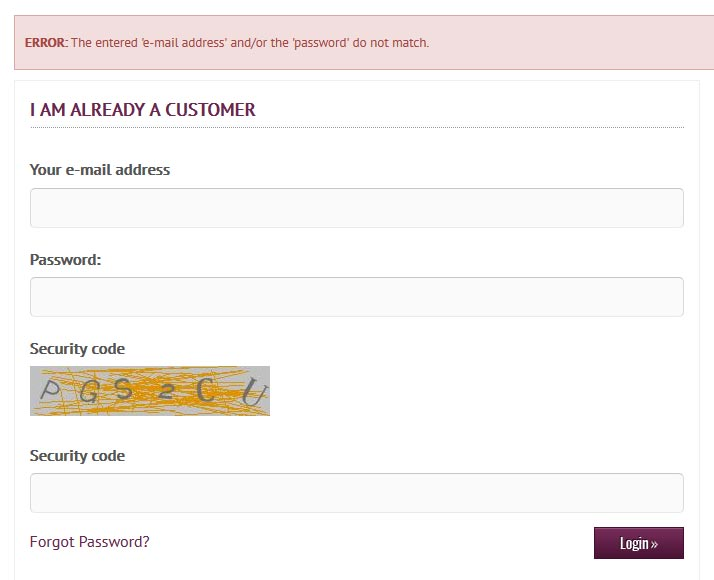 additional confirmation of the password with security code