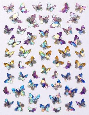 Laser Butterfly Sticker 1