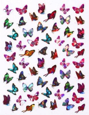 Laser Butterfly Sticker 3