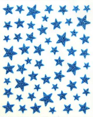 Sticker GLITTER-STERNE, blau