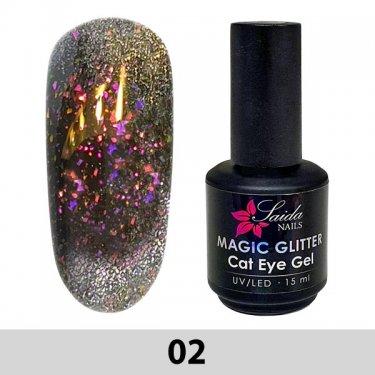 Magic Glitter Cat Eye Gel 02