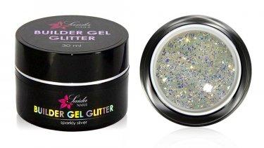 Builder Gel GLITTER Nr. 01 Sparkly Silver, 30 ml