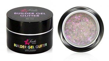 Builder Gel GLITTER Nr. 02 Pink Passion, 30 ml