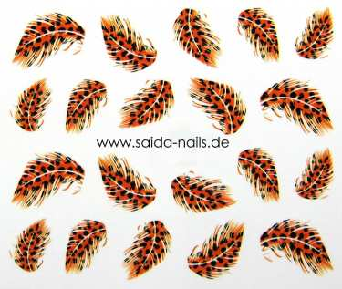 Sticker feather leo