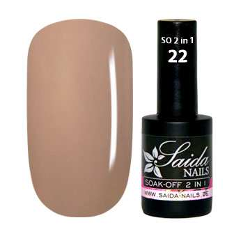 Gel Polish 2 in 1 - 22 Nude  Brown