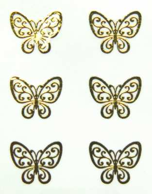 Metallic Sticker 04 Butterfly, gold