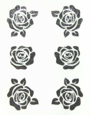 Metallic Sticker 05 Full Rose, silver