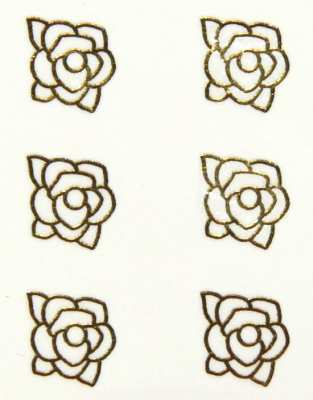 Metallic Sticker 20 Rose, gold