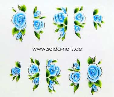 Sticker Blue Rose