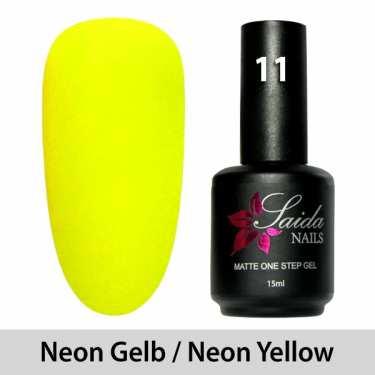 LED One Step Matte Gel 11 NEON GELB