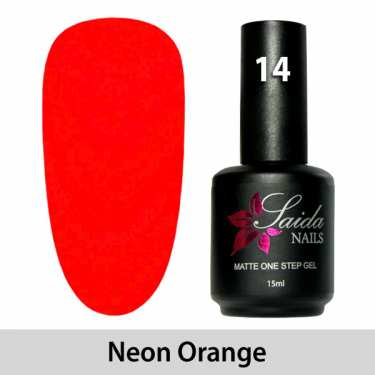 LED One Step Matte Gel 14 NEON ORANGE