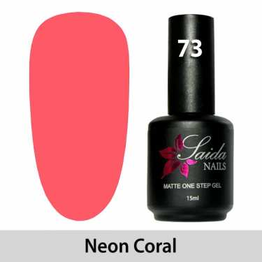 LED One Step Matte Gel 73 NEON CORAL