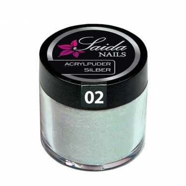 Acrylpuder 02 SILBER, 10 g