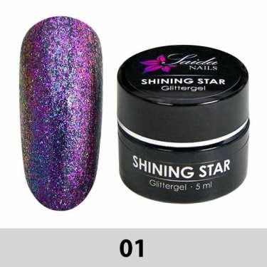 01 Shining Star Glittergel - Lila-Pink
