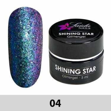 04 Shining Star Glittergel - Lila-Blau