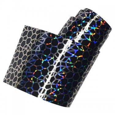 Nail Art Foil XXL 100cm - BLACK CRACKLE