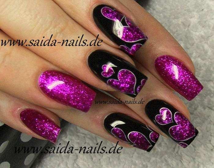 Colorgel 96 Pink Violett Glitzer Fein