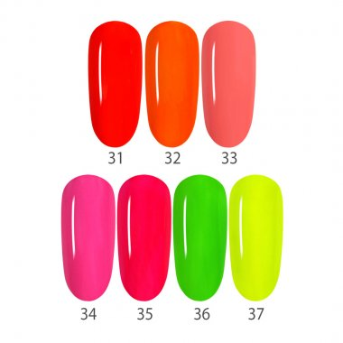Set NEON, 7 Colors 31-37