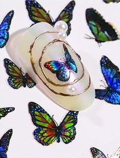 Laser Butterfly Sticker 2