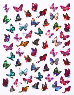 Laser Butterfly Sticker 3