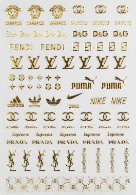 Logo-Sticker, gold