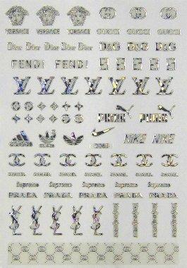 Logo-Sticker, silber holo