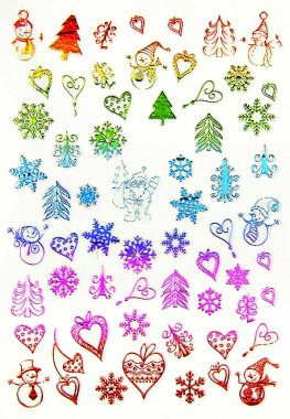 Sticker Rainbow CHRISTMAS 3