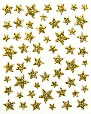 Sticker GLITTER STARS, gold