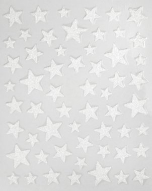 Sticker GLITTER STARS, white