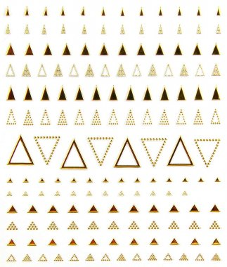 Metallic Sticker TRIANGLE, gold