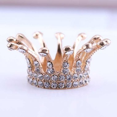 Nail Brush Holder CROWN, gold