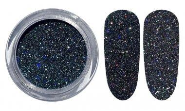 Licht reflektierender Glitter - 02 Schwarz-Silber
