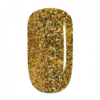 Color Gel - 63 Gold Multicolor Iridescent Glitter, coarse
