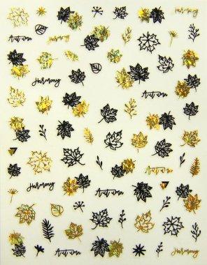 Sticker Blätter 02 Schwarz-Gold