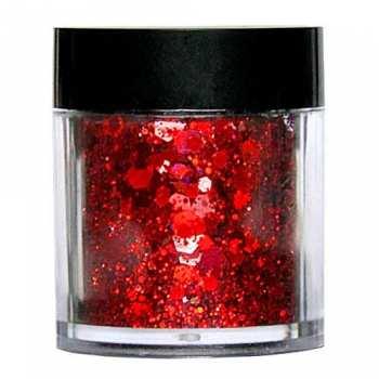 Laser Glitter Mix - ROT