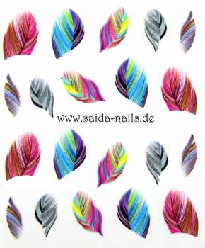 Sticker colorful feathers