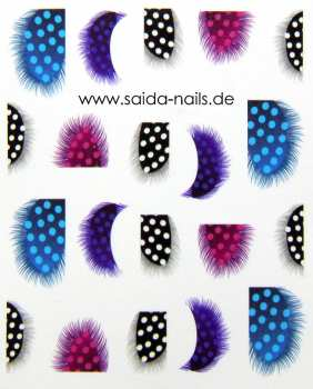 Sticker feather dots