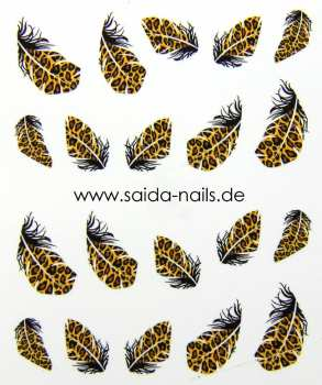 Sticker feather leo 1