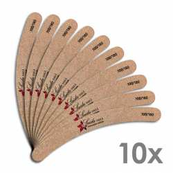 Longlife Sandfeile Mocca gebogen - 10er Pack
