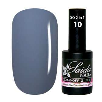 Soak-Off Gel 2 in 1 - 10 Graublau