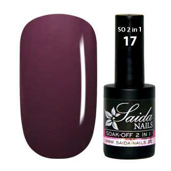 Gel Lack 2 in 1 - 17 Aubergine